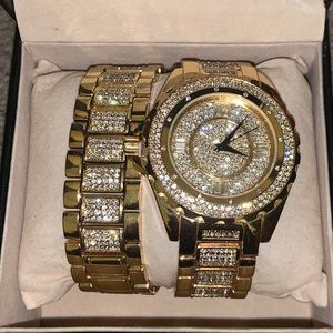 Gold Watch and Bracelet.